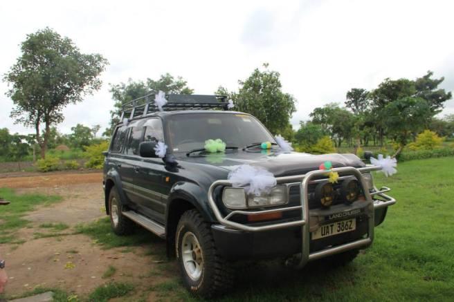 Myrons vehicle decorated.