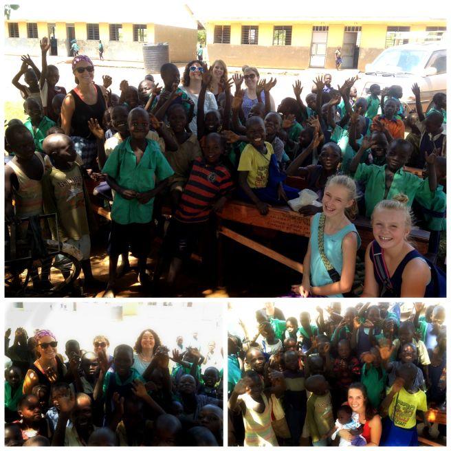 July Team with School Children