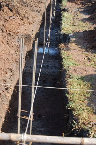 Column rebar and footings