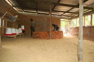 Building of one of three brooders