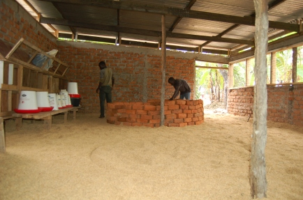 Building of one of three brooders