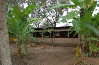 Front view of the chicken house.